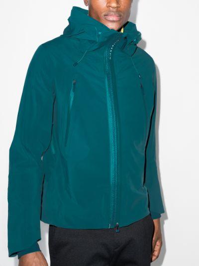 green streamline airy shell jacket