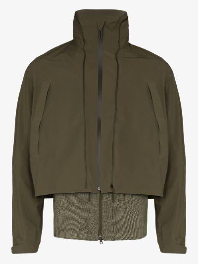 X BYBORRE green Transform track jacket