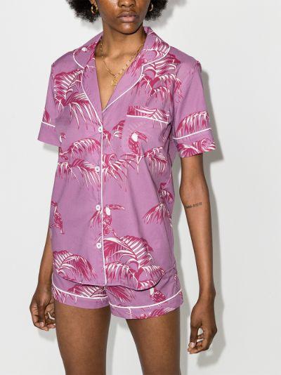 Bocas print short pyjamas