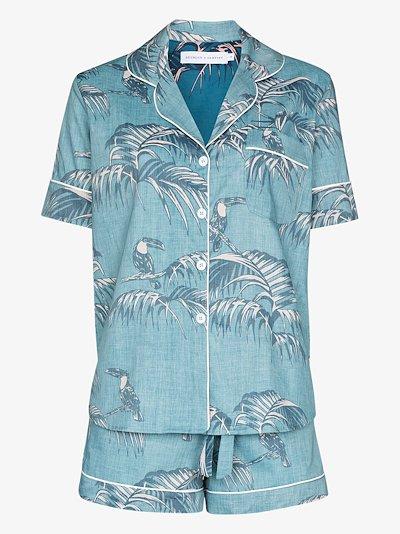 Bocas print short sleeve pyjamas
