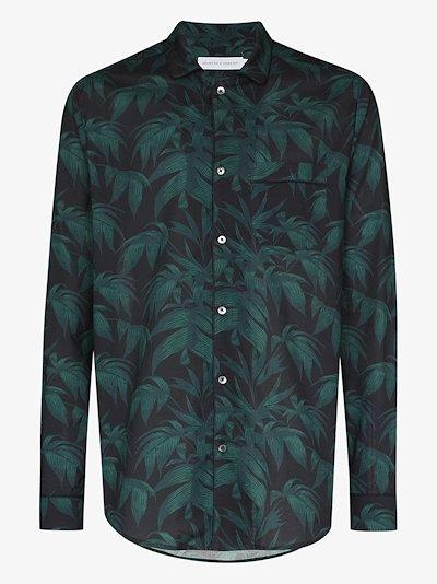 Byron tropical print pyjama shirt
