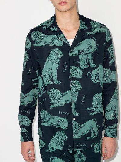 Circe Lion Print Pyjama Shirt