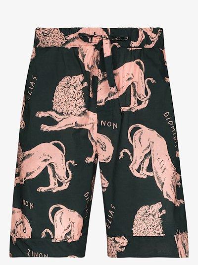 Circe Lion Print Pyjama shorts
