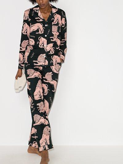 Circle lion print pyjamas