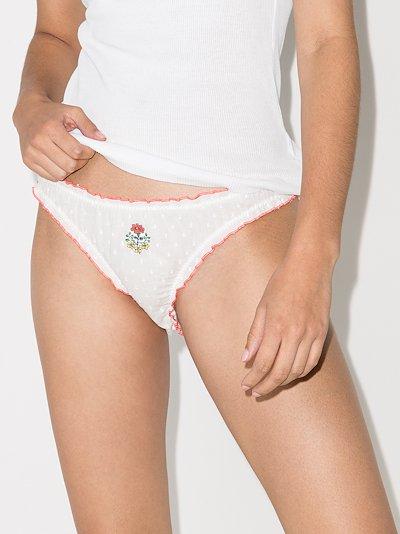 Ethereal printed underwear set