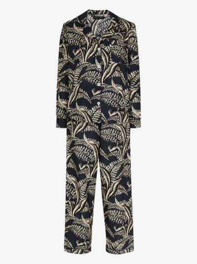 Fern print pyjamas
