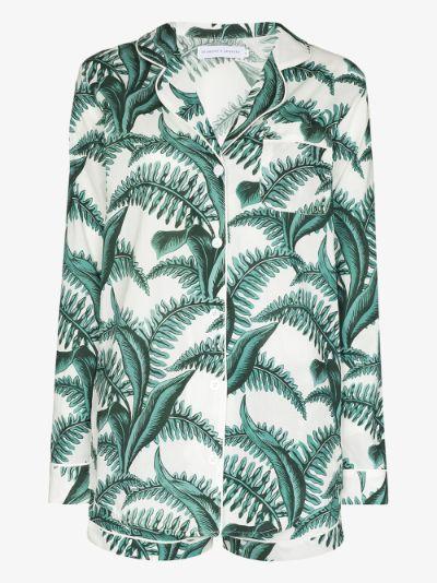 Fern print short pyjamas