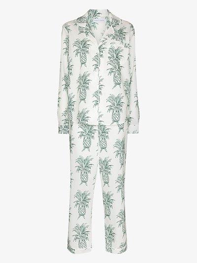 Howie pineapple print cotton pyjama set