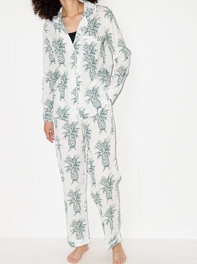 Howie pineapple print cotton pyjamas