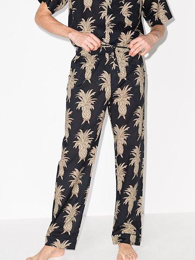 Howie Pineapple print pyjama trousers