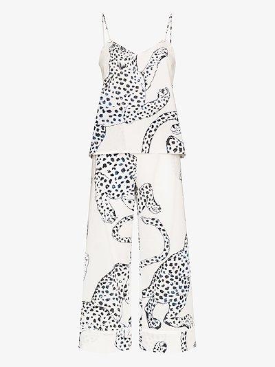 jaguar print pyjamas