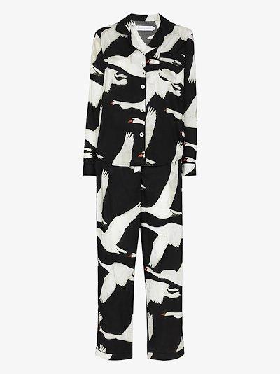 Leda swan print pyjamas