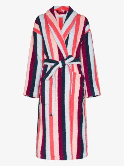 Medina striped towel robe