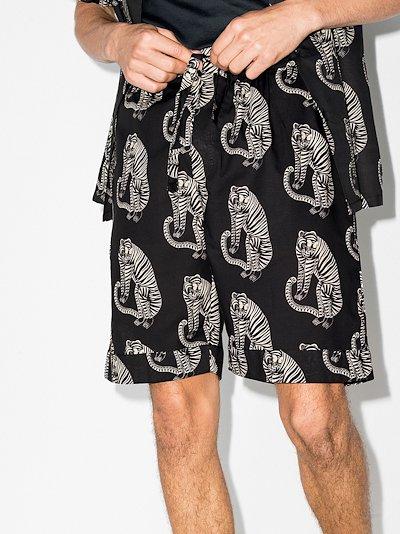 Sansindo tiger print pyjama shorts