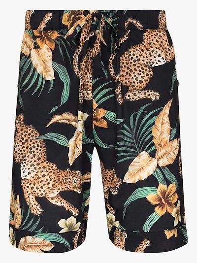 soleia leopard print pyjama shorts