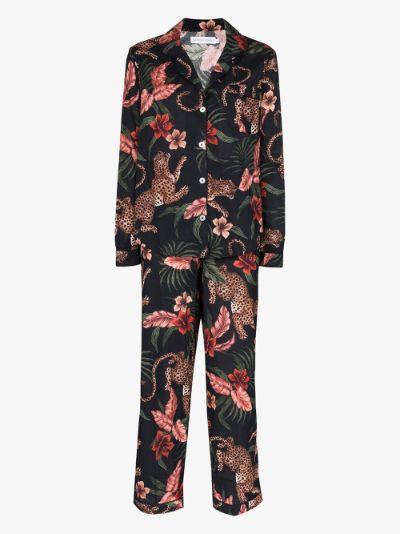Soleia leopard print pyjamas