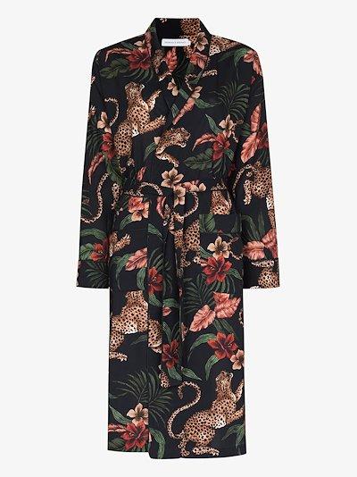 Soleia leopard print robe