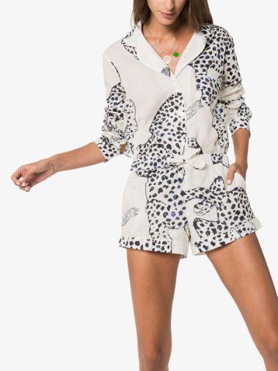 The Jaguar print short pyjamas