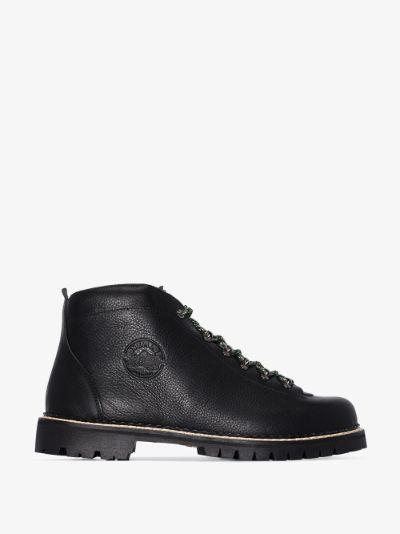 black Tirol leather hiking boots