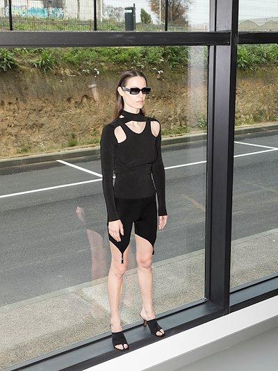 garter clip cycling shorts