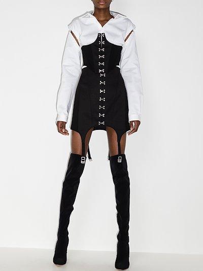 Suspender Corset Mini Skirt