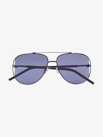 Black Scale aviator sunglasses