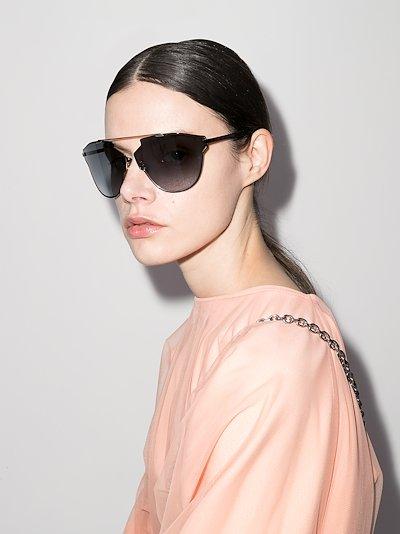 black SoRealRise oversized sunglasses