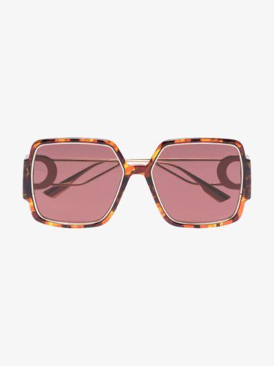 brown 30 Montaigne 2 square sunglasses