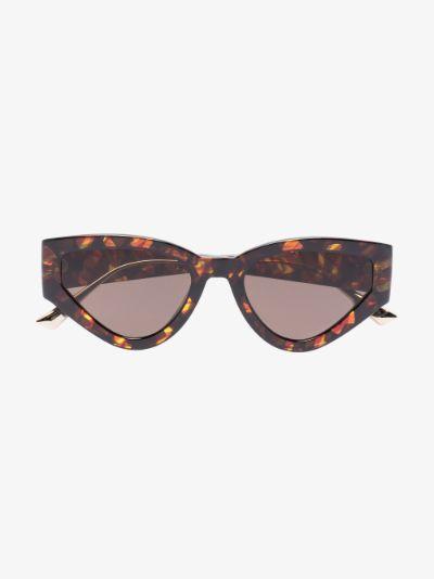 brown Havana cat eye sunglasses