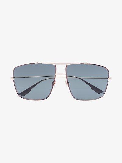 Brown Monsieur square sunglasses
