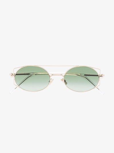 gold tone Architectural sunglasses