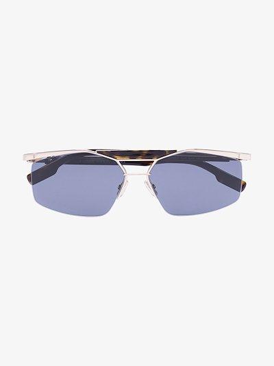 gold tone Psychodelic sunglasses