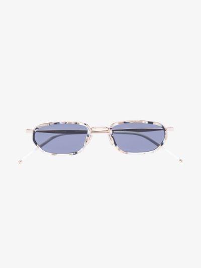 gold tone Shock marbled sunglasses