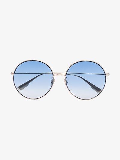 gold tone Society round sunglasses