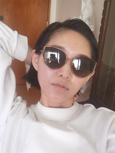 Orange Stellaire tinted sunglasses
