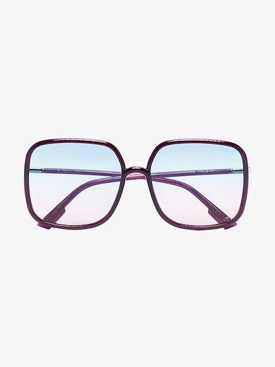 Purple square ombré sunglasses