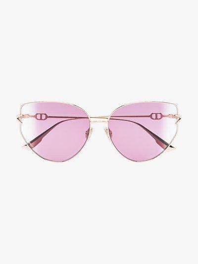 rose gold butterfly lens sunglasses