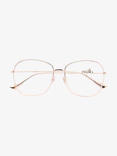 rose gold tone Signature optical glasses