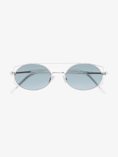 silver tone Architectural sunglasses