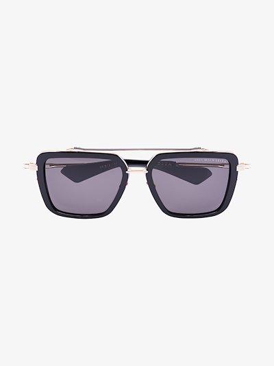 black Mach Seven aviator sunglasses