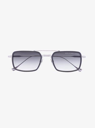 black Mach Seven square sunglasses