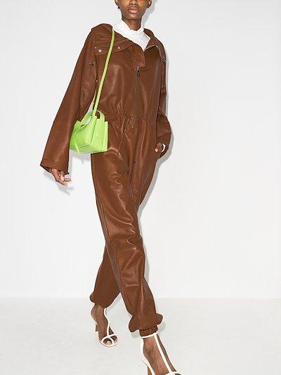 Piki leather jumpsuit