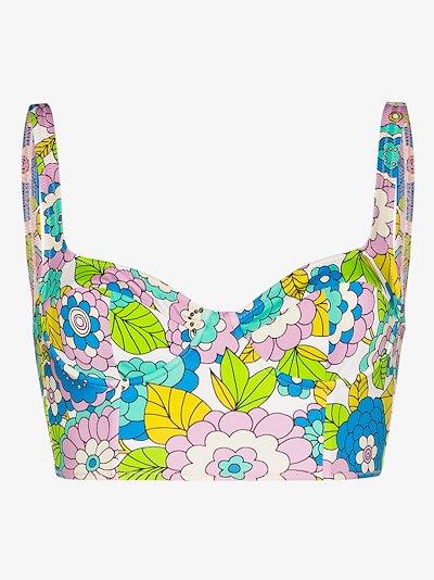 Willie floral cropped bikini top