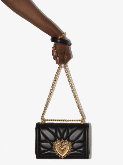 black Devotion leather shoulder bag