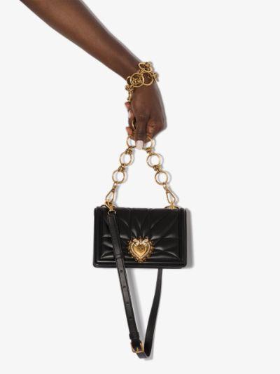 black Devotion mini leather cross body bag
