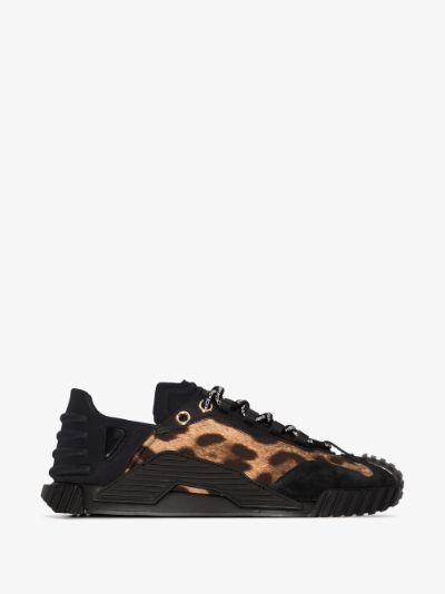 black NS1 leopard print sneakers