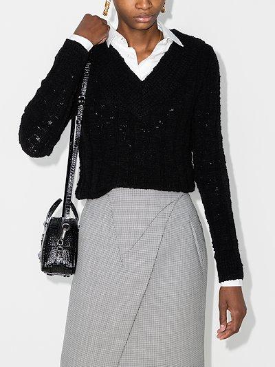 bouclé V-neck sweater