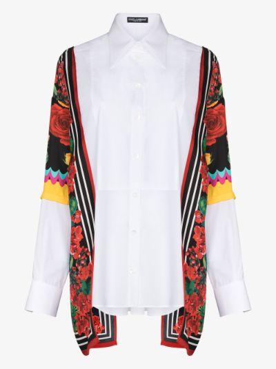 contrast panel oversized shirt