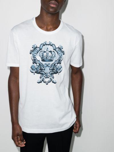 crest logo print T-shirt