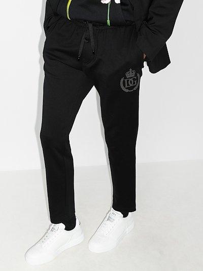 crown logo cotton sweatpants